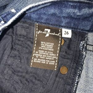 7 For All Mankind Jeans - 7 for All Mankind flood distressed crop jeans